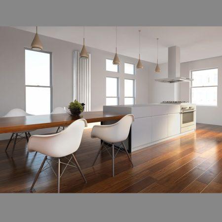 Modern design radiátor 480x1400mm fehér színben, különleges hosszított és keskenyített, stílusos meg