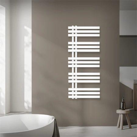 Modern design radiátor 500x1200mm fehér színben, különleges formatervezés, stílusos megjelenés 404W
