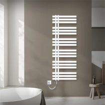 Modern termosztátos radiátor 500x1400mm fehér színben, különleges formatervezésű, stílusos