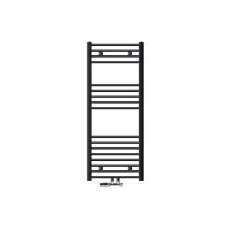 Törölközőszárító radiátor 500 x 1200 mm antracit egyenes változat központi csatlakozással