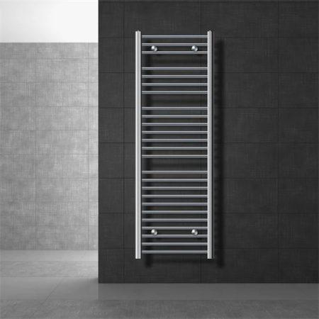 Törölközőszárító radiátor 500 x 1500 mm króm ívelt oldalsó csatlakozással