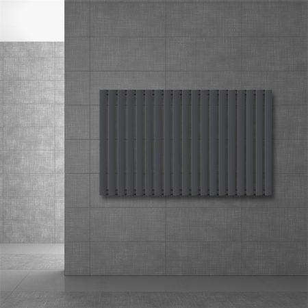 Modern design radiátor 630 x 1030 mm antracit oldalsó csatlakozás