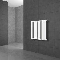 Modern design radiátor 630 x 590 mm fehér oldalsó csatlakozás