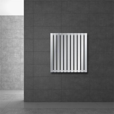 Modern design radiátor 630 x 590 mm króm oldalsó csatlakozás
