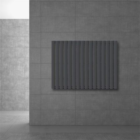 Modern design radiátor 630 x 865 mm antracit oldalsó csatlakozás