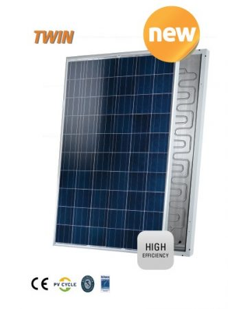 Hibrid napelem - 270W napelem és síkkollektor egyben! A síkkollektor hűti a napelemet a nagyobb telj