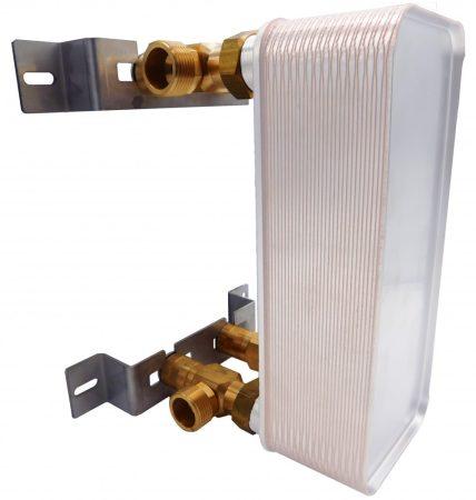 """Lemezes hőcserélő tartókonzol, kompatibilis minden 5/4""""-os bekötéssel rendelkező hőcserélővel"""