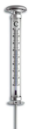 Kerti oszlophőmérő 1 méter magas rúdhőmérő