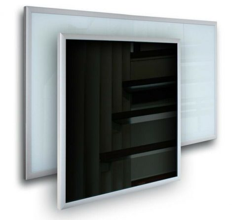 Infra panel üveg borítással fekete színben 600W