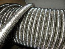 DN12 50m inox, azaz rozsdamentes gégecső vízvezeték, napkollektor bekötő cső flexibilis