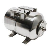 Rozsdamentes tágulási tartály 24 liter fekvő inox saválló hidrofor EPDM membrán