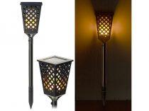 Napelemes kerti lámpa lángeffektussal 51 LED 30 lm  lángforma, beépített akkumulátorral