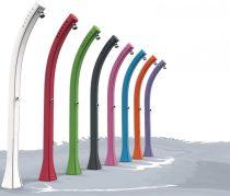 Szines hajlított kerti zuhany 2 év garancia szolár zuhanyzó 28 literes, keverőcsappal. zöld, kék, pi