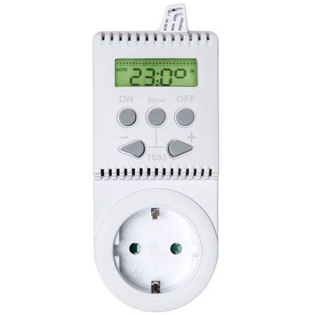 Termosztát konnektorba dugható pl. infrapanel számára. Konnektoros termosztát kapcsoló