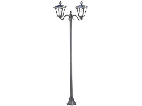 SWL-160 Napelemes LED kerti lámpa, 2 lámpás PIR és szürkület érzékelő, 600 lumen