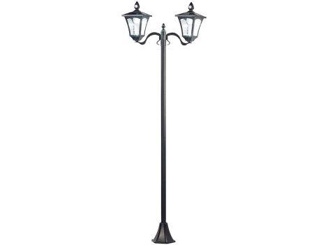 SWL-60 Napelemes LED kerti lámpa, 2 lámpás, PIR és szürkület érzékelő, 200 lumen