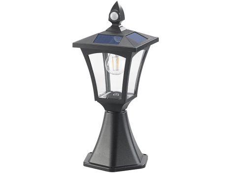 SWL-115 Napelemes LED állólámpa és fali lámpa, PIR érzékelő, szürkület érzékelő, 300 lm