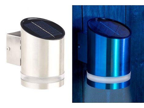 WL-125 Kültéri napelemes LED fali lámpa rozsdamentes acél