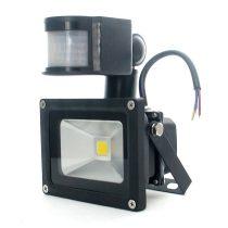 12V 10W LED reflektor, egyenáramú DC ledes fényszóró mozgásérzékelővel, reflektor, fényvető PiR