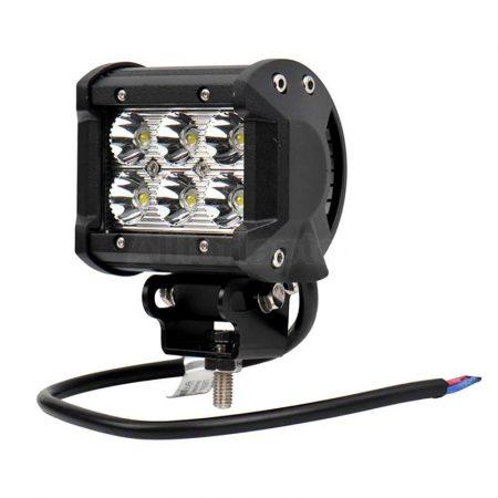 Ledes fényszóró szögletes 12V 18W LED fényvető, munkalámpa