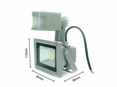 Mozgásérzékelős LED lámpa 12V 10W PIR szenzor