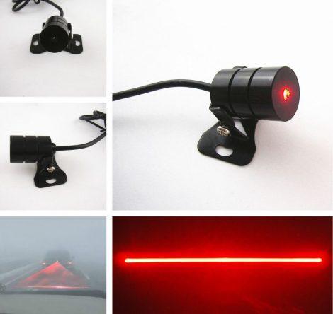 Lézer fényszóró vonalas piros jelzőfény 12V 24V fényvető