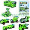 Napelem autó játék 7 az 1-ben napelemes modell építő. A készletből összerakható 7 különböző modell, pl. kamion, versenyautó, dömper...