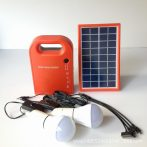 Hordozható nagy teljesítményű Solar Power Bank panel 2 LED izzóval