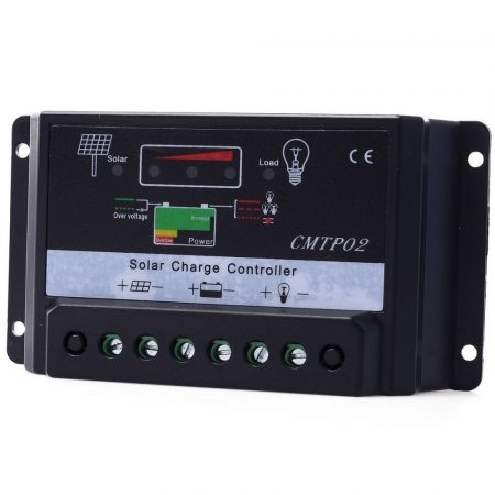 12V 24V 20A napelem töltésszabályozó automatata feszültség felismeréssel