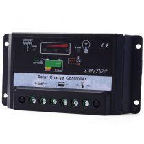 12V 24V 30A napelem töltésszabályozó automatata feszültség felismeréssel