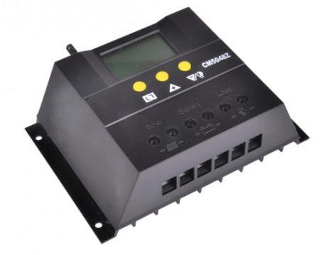 12V 24V 60A Napelem töltésszabályzó vezérlés automatata feszültség felismerés LCD kijelző