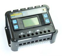 12V 24V 50A Napelem töltésszabályzó vezérlés automatata feszültség felismerés LCD kijelző