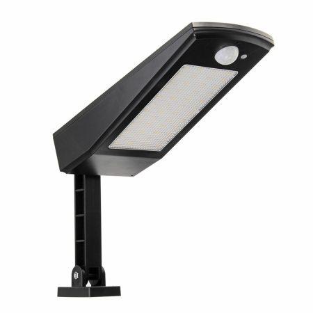 Napelemes mozgásérzékelős lámpa kültéri vízálló fali lámpa 48 LED négyféle üzemmód