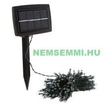 Napelemes kerti világítás 200 fehér LED akkumulátor, alkonykapcsoló
