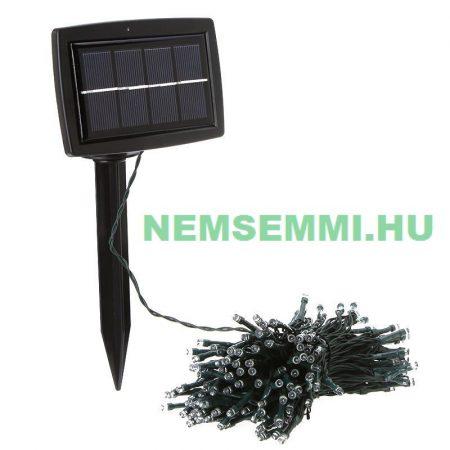 Napelemes kerti vagy karácsonyi világítás 200 fehér LED akkumulátor, alkonykapcsoló lámpafűzér ledfűzér