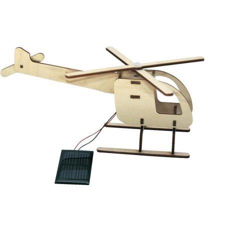 Napelemes helikopter fa modell - napelem cella hajtja a propellert.