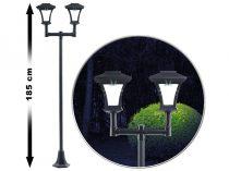 Napelemes kandeláber kerti lámpa napelemmel 185 cm 2 x 0,18W beépített akkumulátorral