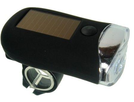 Napelemes kerékpár lámpa napelem és dinamó bicikli lámpa dinamós 3 fehér LED-el + hátsó lámpa