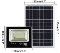 Napelemes fali lámpa 12V 6W napelem oszlopra is szerelhető 44 SMD LED