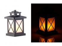 Lángutánzó napelemes Függő vagy asztalra állítható kerti lámpa lángeffektussal