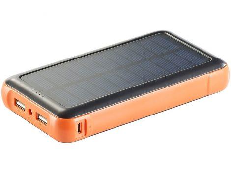 Napelemes powerbank 20000 mA akkumulátoros telefontöltő beépített akkumulátorral