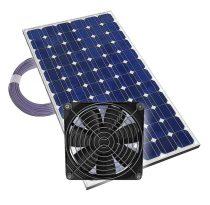 Napelemes szellőztetés 1 ventillátorral, kábellel - Plug & Play üvegház, fóilasátor szellőztető