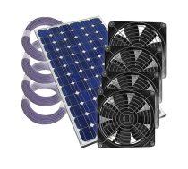 Napelemes szellőztető rendszer 4 ventillátorral, kábellel - Plug & Play üvegház, fóilasátor
