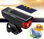 Kerékpár lámpa napelemes és USB töltés