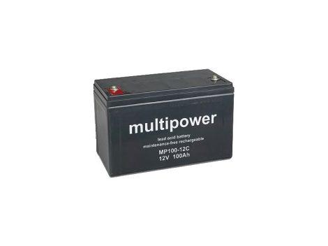 AGM ólom akkumulátor 100 Ah / 12 V-os M6 csatlakozással