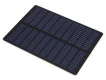5V 1,3W 110x80mm kisméretű monokristályos napelem. Vízálló bevonattal, külön tokozást nem igényel!