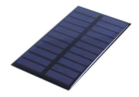 5,5V 1,6W 150x86mm kisméretű monokristályos napelem. Vízálló bevonattal, külön tokozást nem igényel!