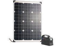 Powerbank és napelemes átalakító monokristályos napelemmel, 26,4 Ah, 50W