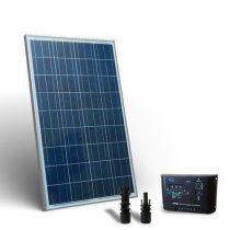 Kemping napelem készlet 12V 100W + töltészabályzó 10A + napelem rögzítő