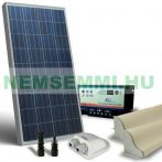 Kemping napelem készlet 12V 130W + töltészabályzó 10A + napelem rögzítő